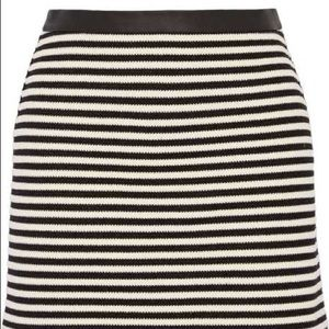 NWT T Alexander Wang Leather Trim Striped Skirt